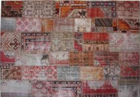 Oude perzische tapijten rood