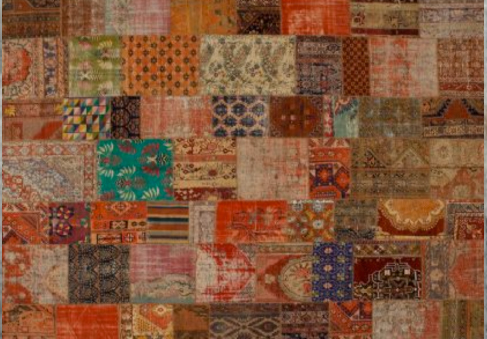 Oude perzische tapijten kleuren