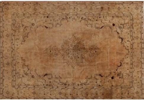 Oude perzische tapijten bruin