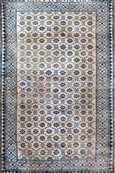 Oude perzische tapijten blauw