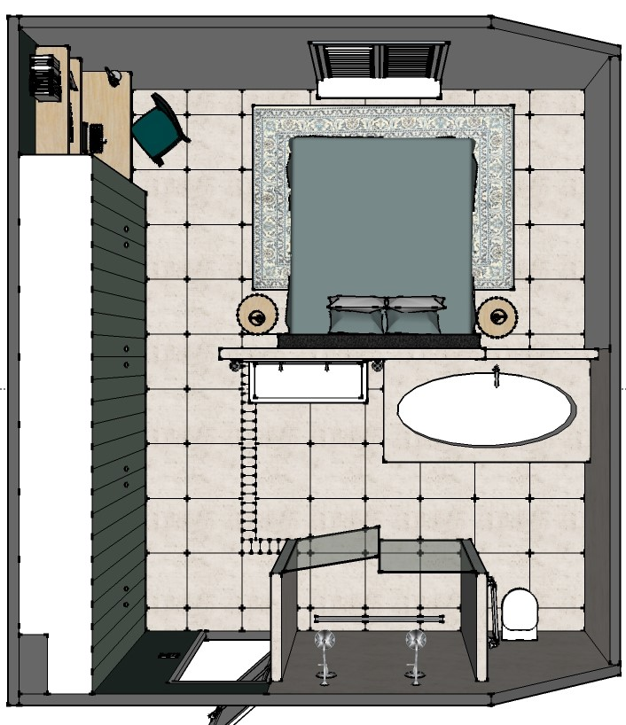badkamer en slaapkamer en suite interieurstylist