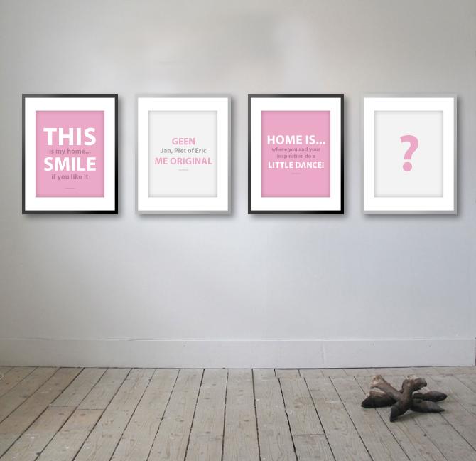 gaan we een actie doen met leuke posters. We hebben al drie teksten ...