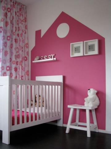 Baby kinder kamer roze interieur - Baby slaapkamer ...