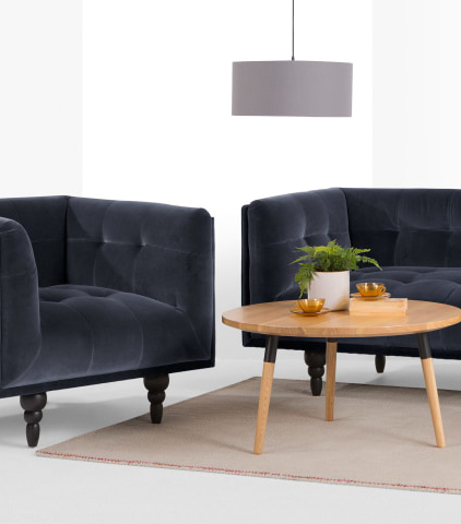 Blauwe Design Bank.10 X Blauwe Banken Stijlvol Blauw Past Bij Jou Inspiraties