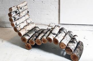 Blog: Stoel van boomstammen