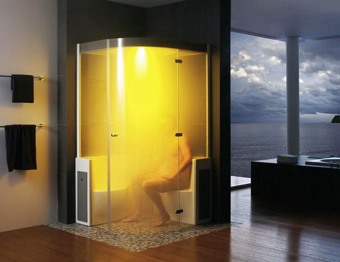 Wellness thuis met een stoomcabine inspiraties - Winkelruimte met een badkamer ...