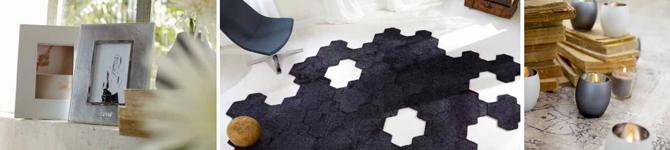 tapijttegels Island van Esprit zwart overzicht