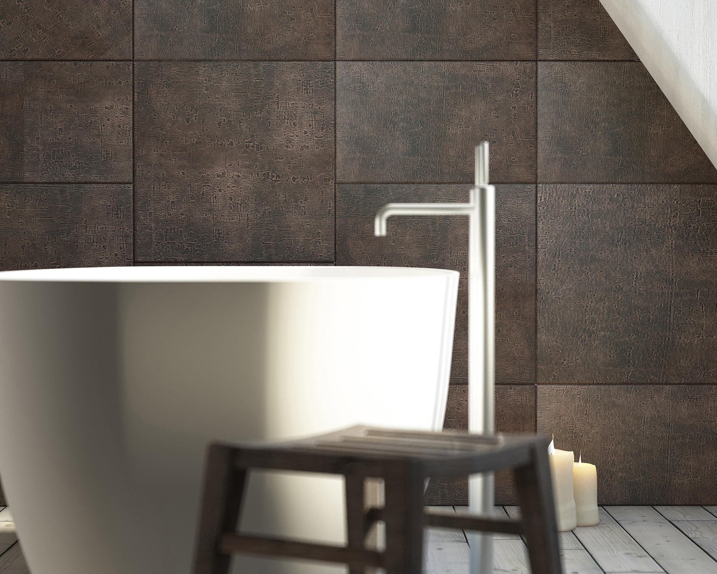 Tegels van leer in je badkamer inspiraties - Muurdecoratie badkamer ...