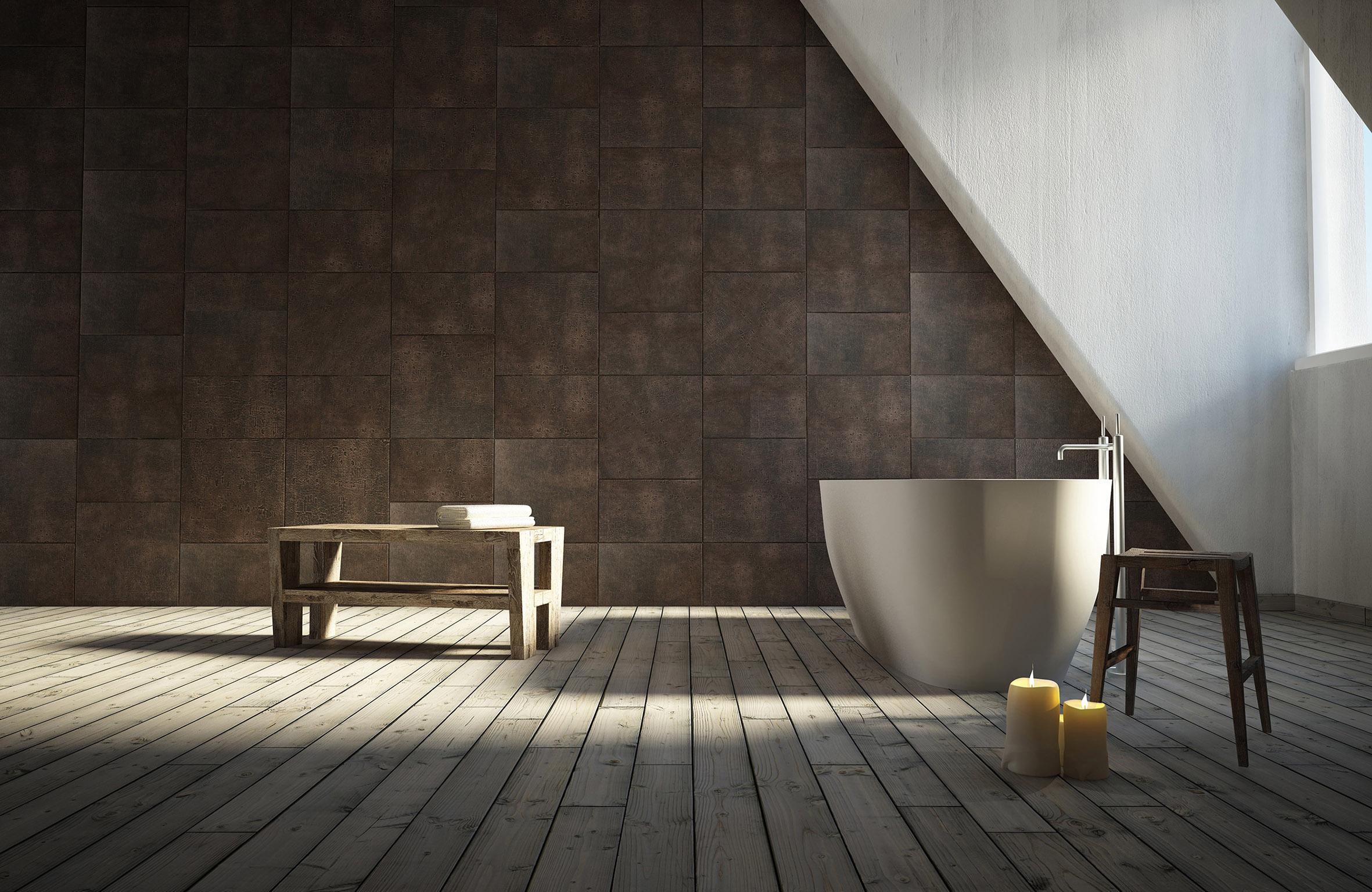 Badkamertegels Italiaans : Tegels van leer in je badkamer ...
