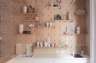 Ruimte in een keuken zonder bovenkastjes