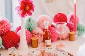 Stijlvolle feestversiering voor een verjaardagsfeest