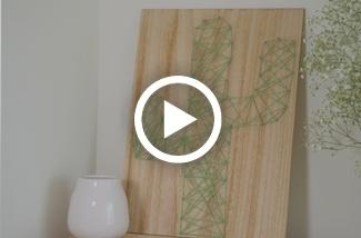 DIY Wanddecoratie cactus van draad