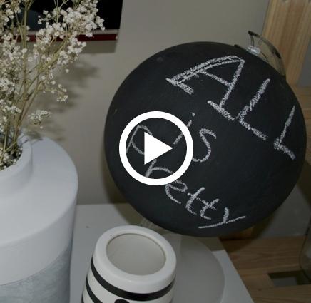 DIY Wereldbol krijtbord