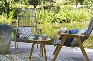 Toffe teakhouten tuinstoel, lekker relaxen in de tuin