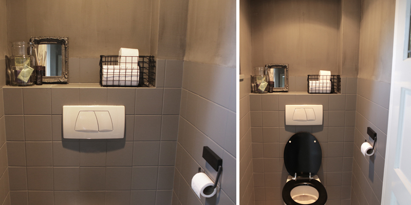 Toilet make over inspiraties for Decoratie wc