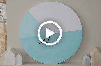 DIY Colourblocking klok