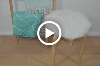DIY Ikea hack fluffy Frosta kruk