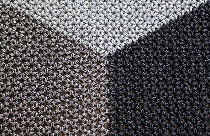 handgemaakte vloermat Detail