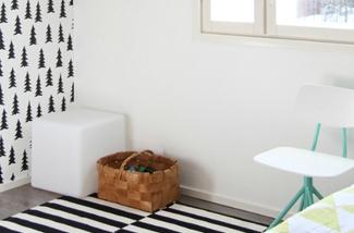 Binnenkijken interieur: Zwart wit op de muur