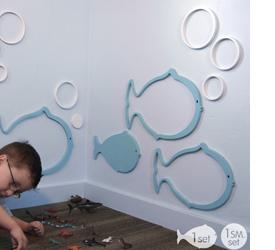 Maak de kinderkamer origineel met muurstickers for Muurdecoratie babykamer