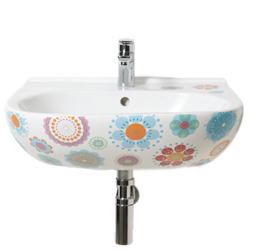 Kleur in je badkamer met een print op je wasbak inspiraties - Wat kleur aan een badkamer ...